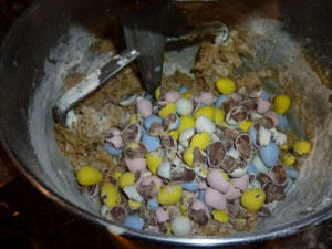 crushed mini eggs